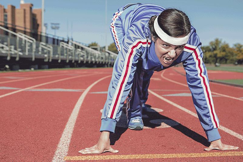 women prepared to run