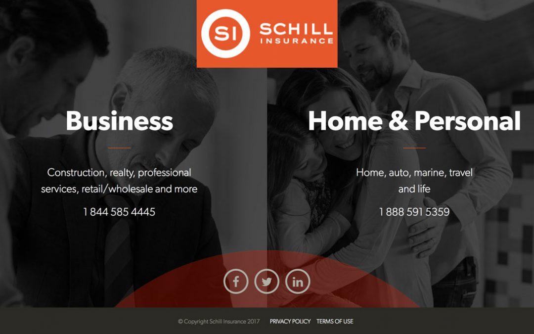 schill insurance landing page